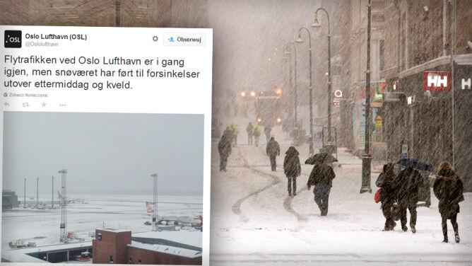 Śnieg uwięził 90 tys. pasażerów na lotnisku w Oslo