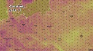 Temperatura w ciągu najbliższych pięciu dni (Ventusky.com)   wideo bez dźwięku